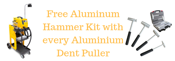 Free hammer kit with dent puller
