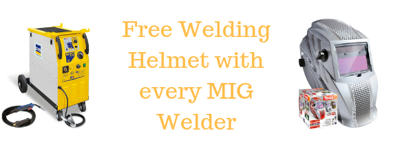 Free helmet with every MIG Welder